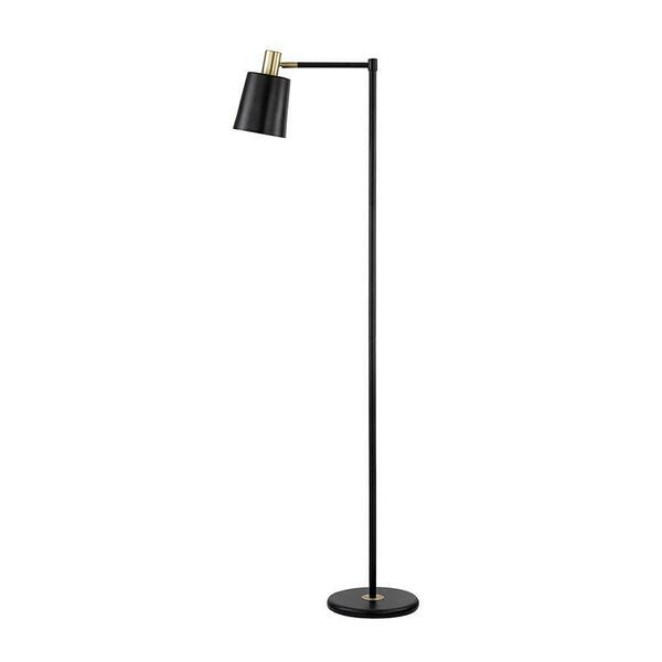 Retro Black and Gold Floor Lamp