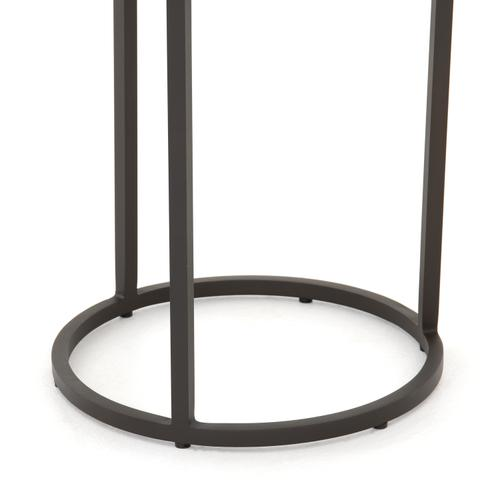 Weathered Grey Finish Alda Outdoor End Table