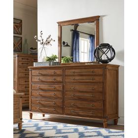 6-Drawer Dresser in Bourbon