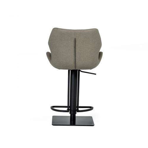 VIG Furniture - Modrest Jaffee - Industrial Grey Eco-Leather Bar Stool