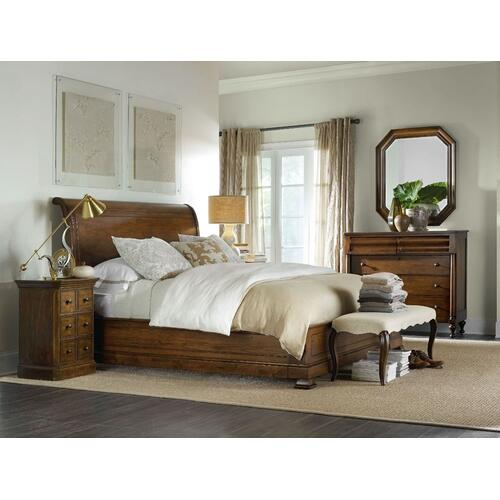 Bedroom Archivist Cal King Sleigh Bed w/Low Footboard