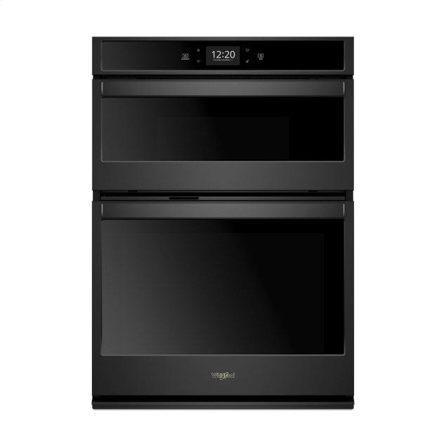 Whirlpool 6.4 cu. ft. Smart Combination Wall Oven with Touchscreen Black