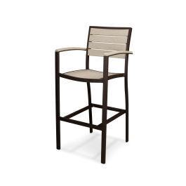 Polywood Furnishings - Eurou2122 Bar Arm Chair in Textured Bronze / Sand