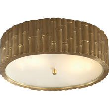 Alexa Hampton Frank 3 Light 15 inch Natural Brass Flush Mount Ceiling Light