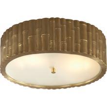 View Product - Alexa Hampton Frank 3 Light 15 inch Natural Brass Flush Mount Ceiling Light