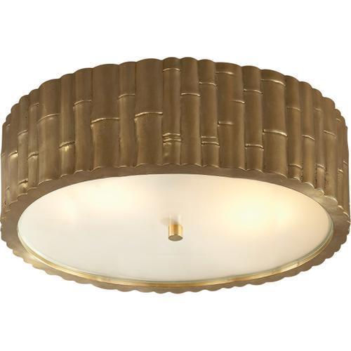 Visual Comfort - Alexa Hampton Frank 3 Light 15 inch Natural Brass Flush Mount Ceiling Light