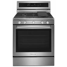 See Details - 30-Inch 5-Burner Gas Convection Range - Stainless Steel