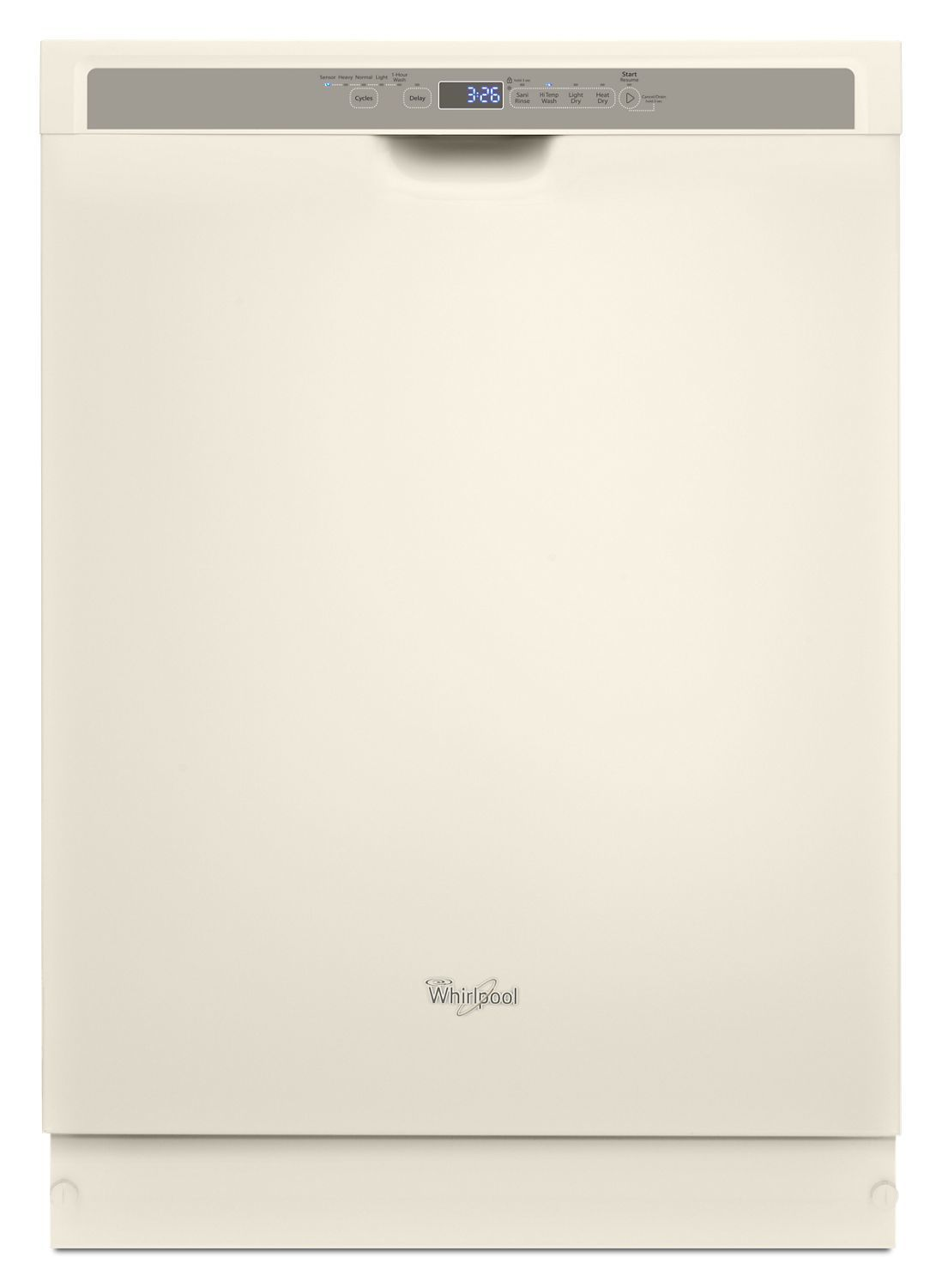 WhirlpoolStainless Steel Dishwasher With 1-Hour Wash Cycle Biscuit