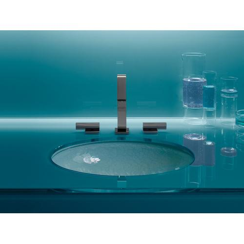 Opaque Dew Glass Undermount Bathroom Sink In Opaque Dew