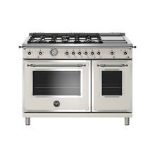 View Product - 48 inch All-Gas Range 6 Brass Burner and Griddle Avorio