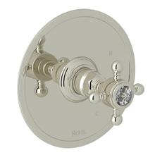 Pressure Balance Trim without Diverter - Polished Nickel with Crystal Cross Handle