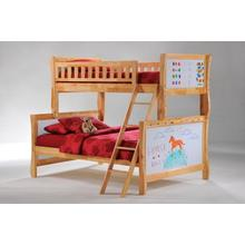 View Product - Scribbles Twin Full Bunk in Natural Finish
