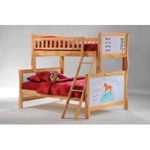 Scribbles Twin Full Bunk in Natural Finish