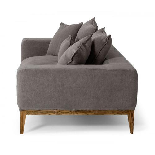 Gallery - Divani Casa Corina - Modern Grey Linen Loveseat