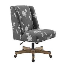 Draper Grey Embroided Office Chair