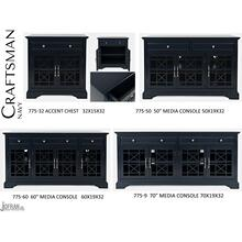 "Craftsman 70"" Media Unit - Navy"
