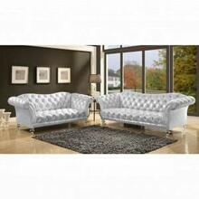 ACME Dixie Loveseat - 52781 - Metallic Silver