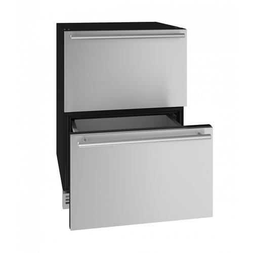 "Hdr124 24"" Refrigerator Drawers With Stainless Solid Finish (115v/60 Hz Volts /60 Hz Hz)"