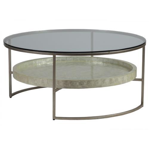 Cumulus Capiz Round Cocktail Table
