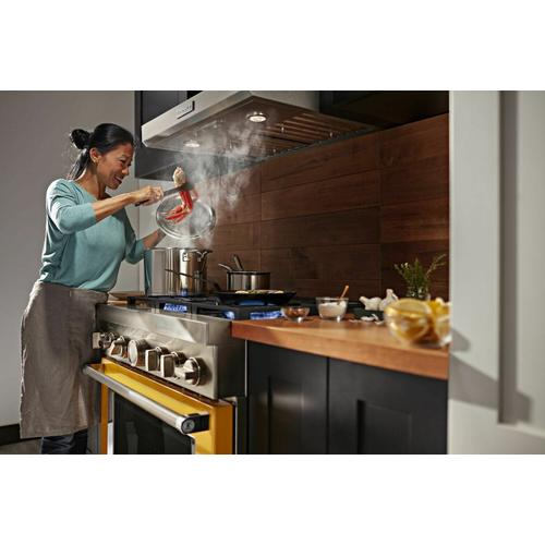 KitchenAid - KitchenAid® 36'' Smart Commercial-Style Dual Fuel Range with 6 Burners - Yellow Pepper