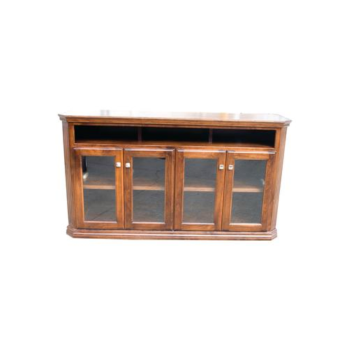 "O-TF295 Traditional Oak 65"" Clipped Corner TV Console"