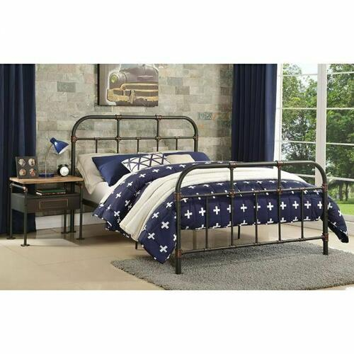 ACME Nicipolis Full Bed - 30735F - Sandy Gray