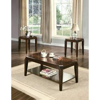 ACME Docila 3Pc Pack Coffee/End Table Set - 80655 - Walnut