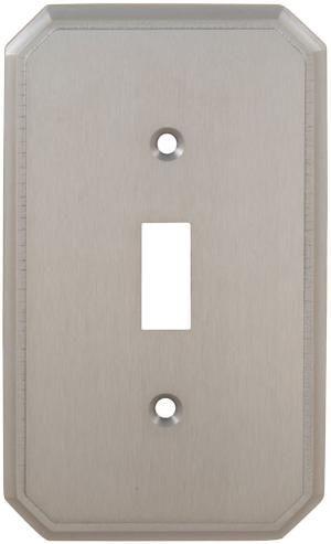 Single Traditional Switchplate in (US15 Satin Nickel Plated, Lacquered) Product Image