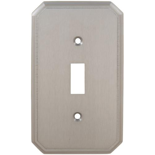 Single Traditional Switchplate in (US15 Satin Nickel Plated, Lacquered)