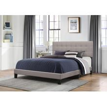 Delaney Queen Upholstered Bed, Stone
