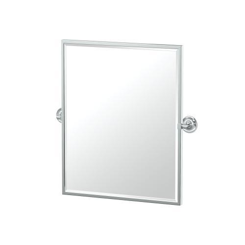 Designer II Framed Rectangle Mirror in Chrome