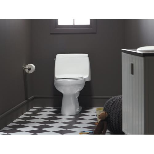 Biscuit One-piece Compact Elongated 1.28 Gpf Chair Height Toilet With Quiet-close Seat