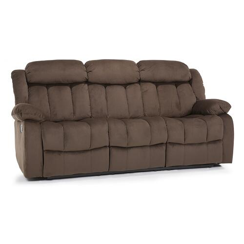 Brown Reclining Sofa