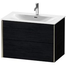 View Product - Vanity Unit Wall-mounted, Black Oak
