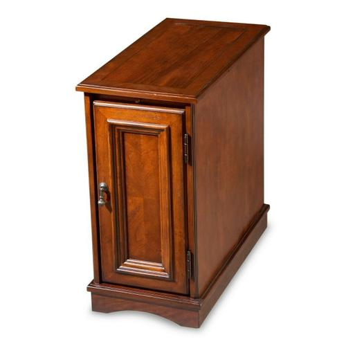 Butler Specialty Company - Selected solid woods and choice cherry veneers. Cherry veneer top, pull out tray and paneled door.