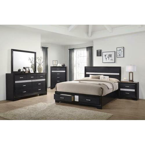 Miranda Contemporary Black Eastern King Bed