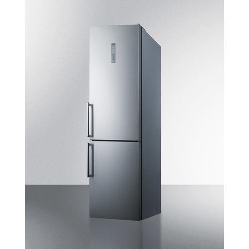 """Summit - 24"""" Wide Bottom Freezer Refrigerator"""