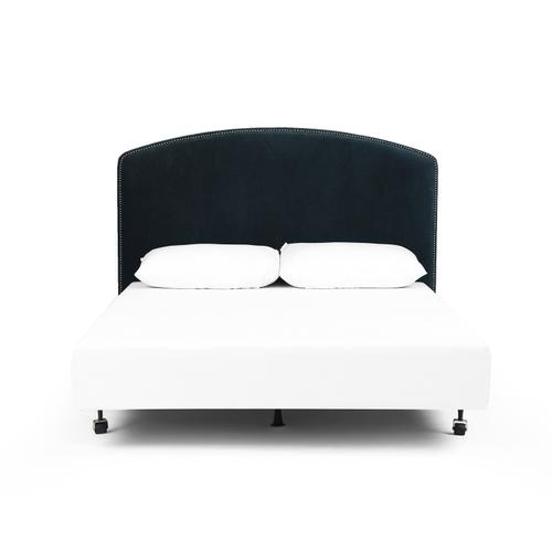 King Size Plush Navy Cover Surry Curved Headboard