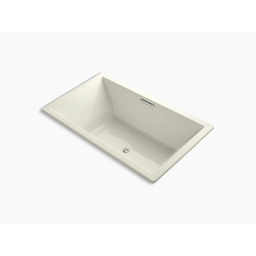 "Biscuit 72"" X 42"" Drop-in Vibracoustic Bath With Bask Heated Surface and Center Drain"