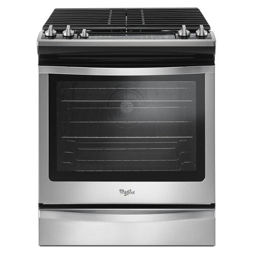 Whirlpool Canada - 5.8 Cu. Ft. Front Control Gas Range with EZ-2-Lift™ hinged grates