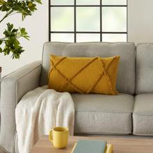 """See Details - Life Styles Sh018 Mustard 14"""" X 24"""" Throw Pillow"""