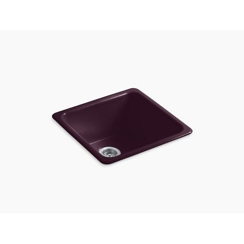 "Black Plum 20-7/8"" X 20-7/8"" X 10"" Top-mount/undermount Single-bowl Kitchen Sink"