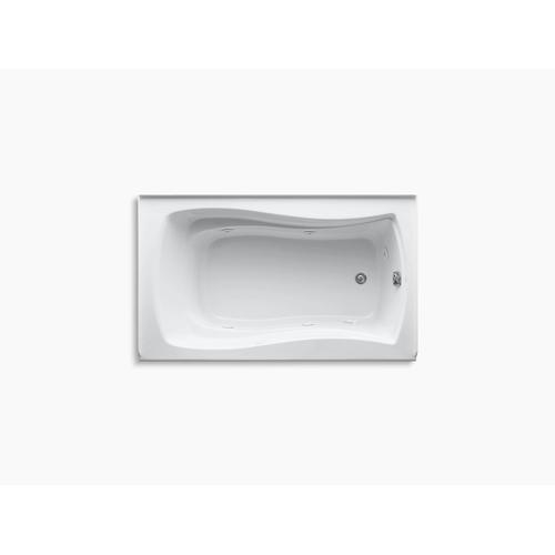 "White 60"" X 36"" Alcove Whirlpool With Integral Flange, Right-hand Drain and Heater"
