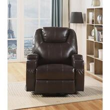 BRWON ROCKER RECLINER W/SWIVEL