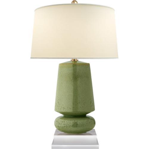 Visual Comfort - E. F. Chapman Parisienne 29 inch 150.00 watt Shellish Kiwi Table Lamp Portable Light, E.F. Chapman, Small, Natural Percale Shade