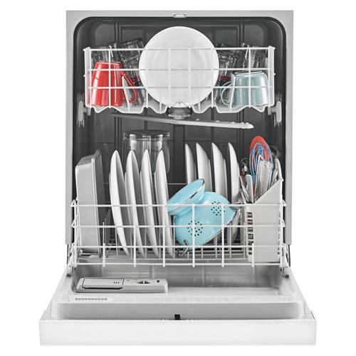 Dishwasher with Triple Filter Wash System White