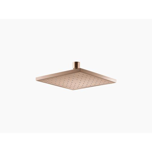 """Vibrant Rose Gold 8"""" Rainhead With Katalyst Air-induction Technology, 2.5 Gpm"""