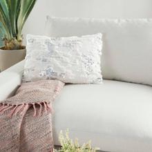 """Sofia Vv212 White 14"""" X 20"""" Throw Pillow"""