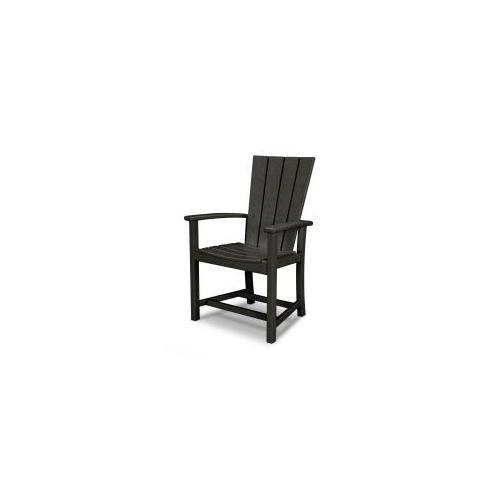 Polywood Furnishings - Quattro Adirondack Dining Chair in Black
