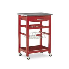 Zoey Kitchen Cart Stainless Steel Top